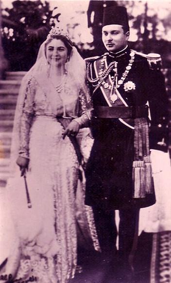 Mariage de Farouk I et de Safinaz Zulficar